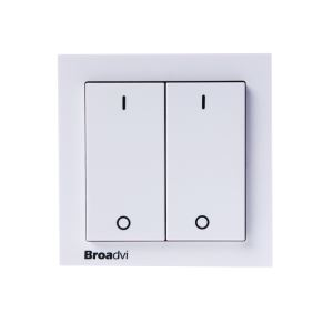 433mhz 2 Ways Wireless Double Wall Light Switches for Lighting & House Appliance Control