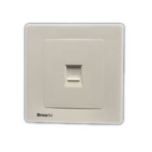 1 Port Rj45 Face Plate Wall Outlet Network Information Outlet