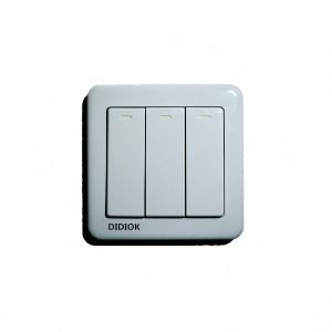 Wireless Luxury Wall Switch 3 Gang 3 Way Light LED Wireless Remote Control Switch